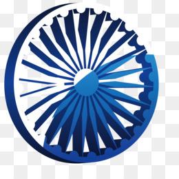 The Red Fort Wheel Flag of India Ashoka Chakra - Vector Art Car Wheel a69c88960c68