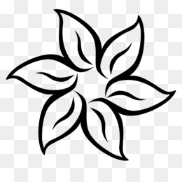 Flower Black and white Clip art - Flower Silhouette