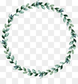 Wreath, Leaf, Garland, Line, Green PNG image with transparent background