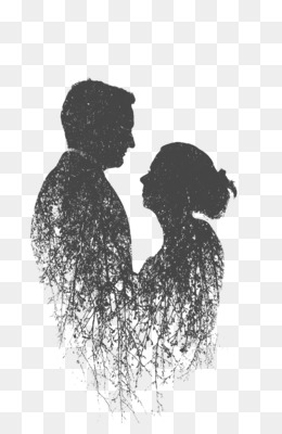 Multiple Exposure, Couple, Silhouette, Visual Arts, Art PNG image with transparent background