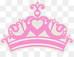 Crown, Tiara, Princess, Pink, Heart PNG image with transparent background