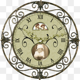 Vintage Clock PNG Transparent Clipart Free Download