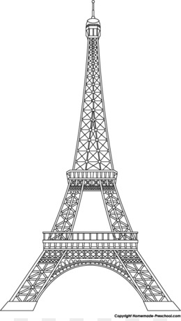 Eiffel Tower Clip Art   Homemade Cliparts Png Download   400*702   Free  Transparent Line Art Png Download.