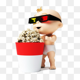 Free download 3D film Cartoon - Standing in front of the baby