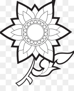 Flower black and white drawing clip art flower black png download png mightylinksfo