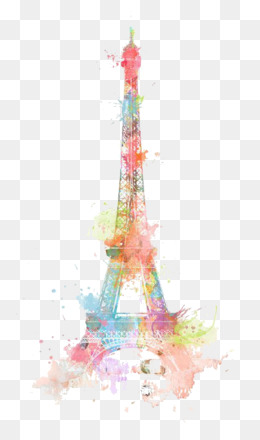 Eiffel Tower, Drawing, Tower, Pink PNG image with transparent background