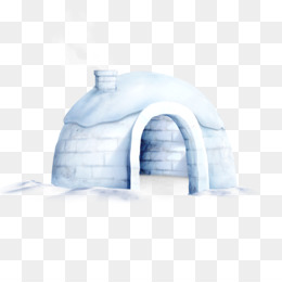 Snow, Igloo, Download, Blue, White PNG image with transparent background