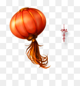 Lantern, Chinese New Year, Firecracker, Orange PNG image with transparent background