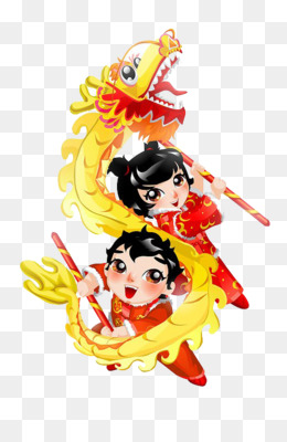 Dragon Dance, Lion Dance, Chinese New Year, Recreation, Art PNG image with transparent background