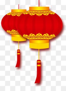 Lantern, Firecracker, Chinese New Year, Lighting, Orange PNG image with transparent background