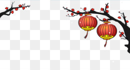 Chinese New Year, Nian, Traditional Chinese Holidays, Tree, Graphic Design PNG image with transparent background