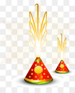 Diwali, Fireworks, Firecracker, Party Hat, Cone PNG image with transparent background