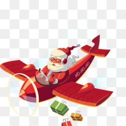 Santa Claus, Airplane, Christmas, Fictional Character, Christmas Ornament PNG image with transparent background