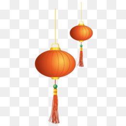 Chinese New Year, Lantern, New Year, Orange, Christmas Ornament PNG image with transparent background