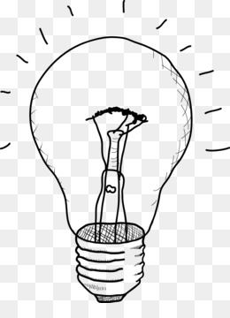 free download incandescent light bulb drawing sketch