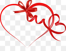 Heart, Valentines Day, Ribbon, Love PNG image with transparent background