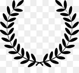Laurel Wreath, Wreath, Bay Laurel, Leaf, Monochrome Photography PNG image with transparent background