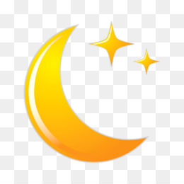 Moon, Crescent, Full Moon, Symbol, Yellow PNG image with transparent background