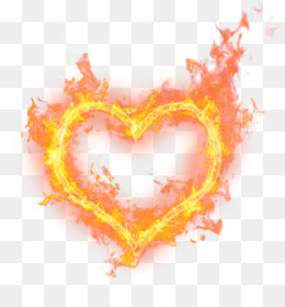 Heart, Fire, Flame, Love PNG image with transparent background