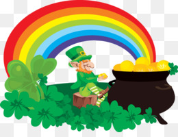 Rainbow Pot Of Gold Kobold Saint Patricks Day Clip Art Regenbogen