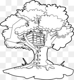 ücretsiz Indirin Sihirli Ağaç Evi Boyama Kitabı Küçük Resim Hat