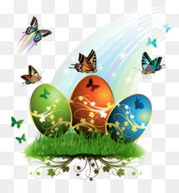 Easter Bunny, Easter, Easter Egg, Butterfly PNG image with transparent background