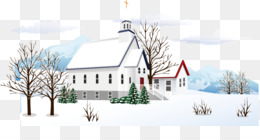 Snow, Winter, Cartoon, Building, Elevation PNG image with transparent background