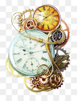 Steampunk, Pin, Jewellery, Watch, Clock PNG image with transparent background