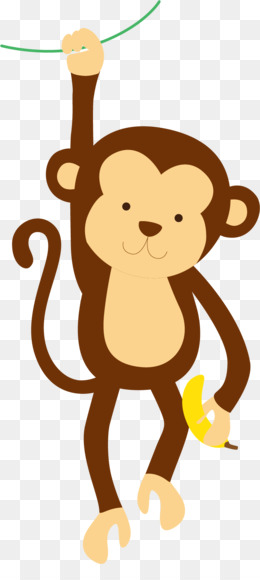 Monkey Cartoon Drawing Illustration Happy Little Monkey