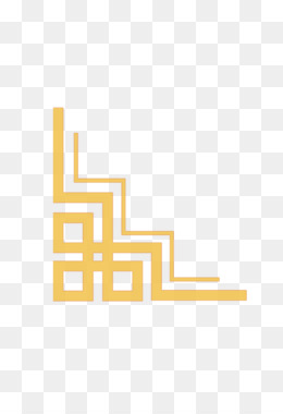 Yellow Area Pattern Vector Chinese Style Gold Frame Png