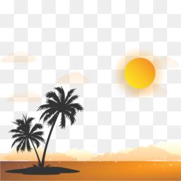 sunrise vector diagram