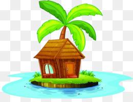 jungle hut clipart