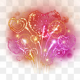 Fireworks, Heart, Photography, Pink PNG image with transparent background