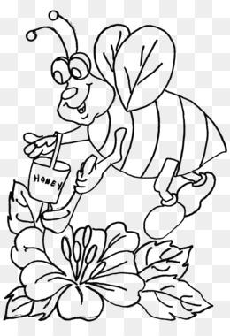 Bee Buku Mewarnai Anak Clip Art Bee