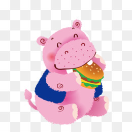 Cute Hippo PNG And PSD Free Download