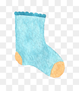 Sock, Blue, Child, Turquoise PNG image with transparent background