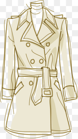 Trench Coat, Dress, Windbreaker, Clothes Hanger, Yellow PNG image with transparent background