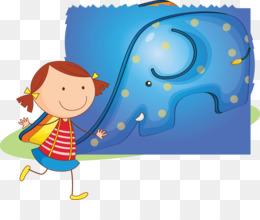 Child, Sky, Child Art, Blue, Human Behavior PNG image with transparent background