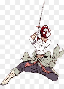 Japan, Watercolor Painting, Samurai, Fictional Character, Art PNG image with transparent background