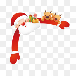 Santa Claus, Christmas, Cartoon, Christmas Decoration, Deer PNG image with transparent background