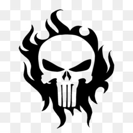 Punisher, Tshirt, Decal, Skull, Symbol PNG image with transparent background
