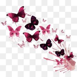 Mariposa de la pintura a la Acuarela Obra de arte - mariposa @kisspng