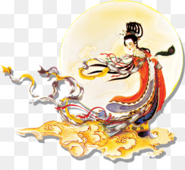 China, Midautumn Festival, Mooncake, Mythical Creature, Art PNG image with transparent background