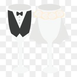 Wedding, Drawing, Cartoon, Heart, Champagne Stemware PNG image with transparent background