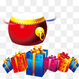 Gift, Chinese New Year, Gratis, Yellow PNG image with transparent background