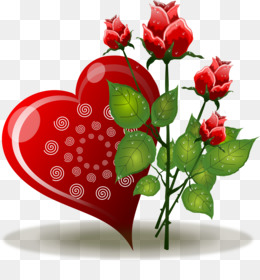 Heart, Rose, Flower, Plant PNG image with transparent background