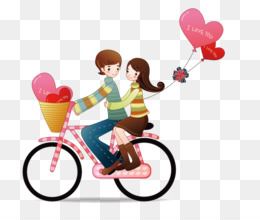 Love, Romance, Couple, Bicycle Accessory, Heart PNG image with transparent background