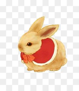 Carta da parati ornato uovo di pasqua e simpatici coniglietti