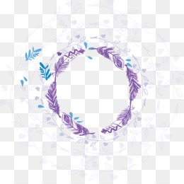 Wreath, Garland, Purple, Circle PNG image with transparent background