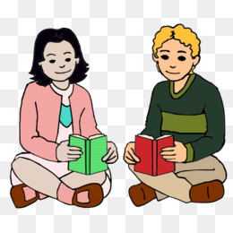 Student Reading Book discussion club Clip art - Reading ...